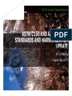 Aashto and Astm Standards and Harmonization Update for Fall 2009 Mtc Meeting