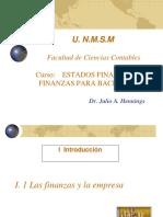 I 1 Las Finanzas y La Empresa - I 2 Sistema Financiero (1)