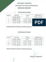 First Sem Assessment Schedule Nd17