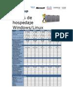 Planes de Hospedaje Windows y Linux 2010