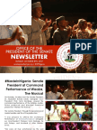 Office of the Senate President Newsletter. Week of Monday October 2nd to Saturday, October 7th.