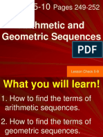 Chapter 1 Arithmetic and Geometric Sequence
