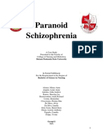 52857393 Paranoid Schizophrenia Case Study