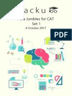 Para Jumbles for Cat PDF Set-1