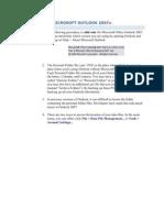 29533048 Microsoft Outlook 2007 Backup Steps