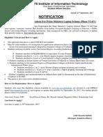 Invitation of Applications for Prime Minister's Laptop Scheme Phase-VI & v (1)