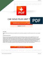 Cae Gold Plus Unit Test 8