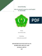 Gangguan Thyroid Pada Antenatal Women Di Rumah Sakit Pedalaman Di Sentral India