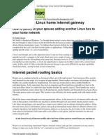 Linux Internet Gateway
