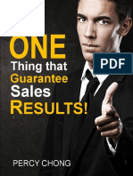 The ONE Thing That Guarantee Sales Results 25 June 2014