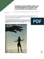 9 Techniques de Manipulation Psychologique Utilisées Par Les Individus Pervers Narcissiques Pour Contrôler Votre Vie