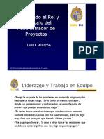 El Administrador de Proyectos, Investigando su Rol y el Trabajo - Clase 5 FAP