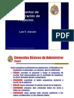 Elementos Básicos del Administrador de Proyectos - Clase 2 FAP