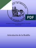 Rodilla III Catedra Anatomia