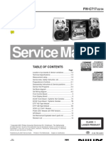 Philips FW-C717 Service Manual