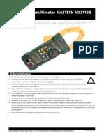 Mastech Multimeter Anleitung D830475B