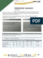 compressor oil range tds