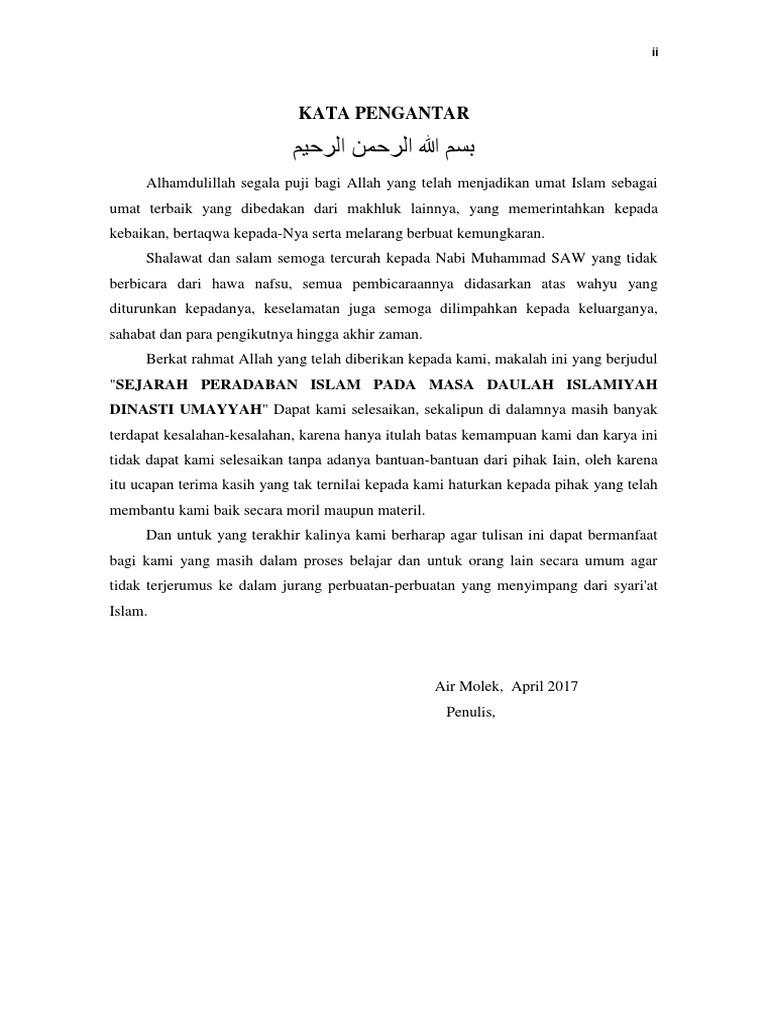 Makalah Sejarah Peradaban Islam Daftar Isi Docx
