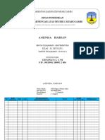 Agenda Harian Kls x