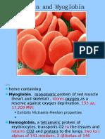 biochemistry of MYOGLOBIN & HEMOGLOBIN