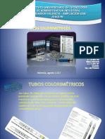 EXPOSICION TUBOS COLORIMETRICOS