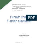 Funcion Lineal Funcion Cuadratica
