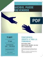 Conferencia Suicidio