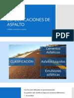 Especificaciones de Asfalto