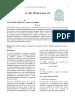Modelo Mecánico de Desintegración Radioactiva