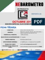 Venebarómetro Octubre 2017 EDICIÓN ESPECIAL ELECCIONES REGIONALES