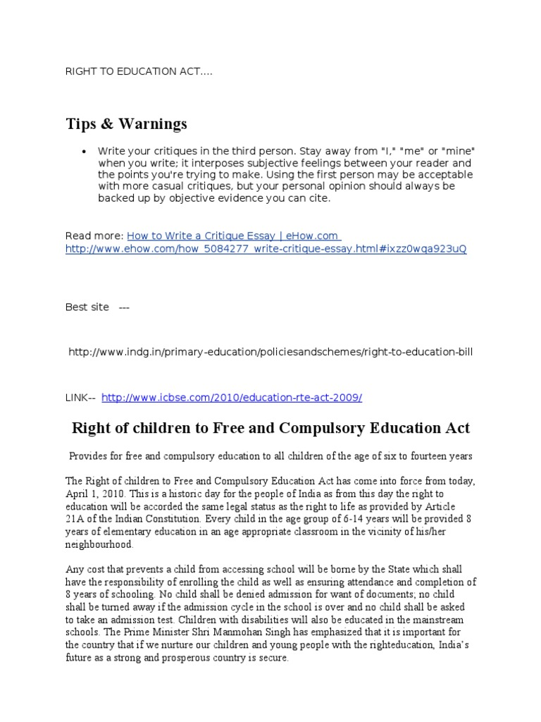 article on right to education and its challenges