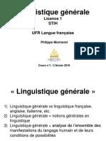 Linguistique Générale L1 Cours 1 Pour Diff