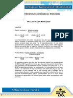 Ev6 Interpretación Indicadores Financieros