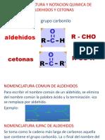 Nomenclatura Aldehidos y Cetonas