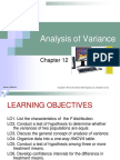 Chap012 Analysis of Variance