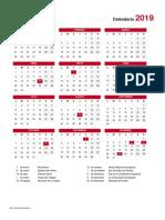 Calendario 2019 V