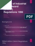 Control of Industrial Major Hazard Stable
