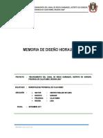 1.Memoria Tecnica Canaldegarbanzo