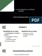 Unidad 1 Ciencia Clasificación Paradigma