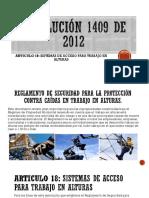 Resolución 1409 de 2012
