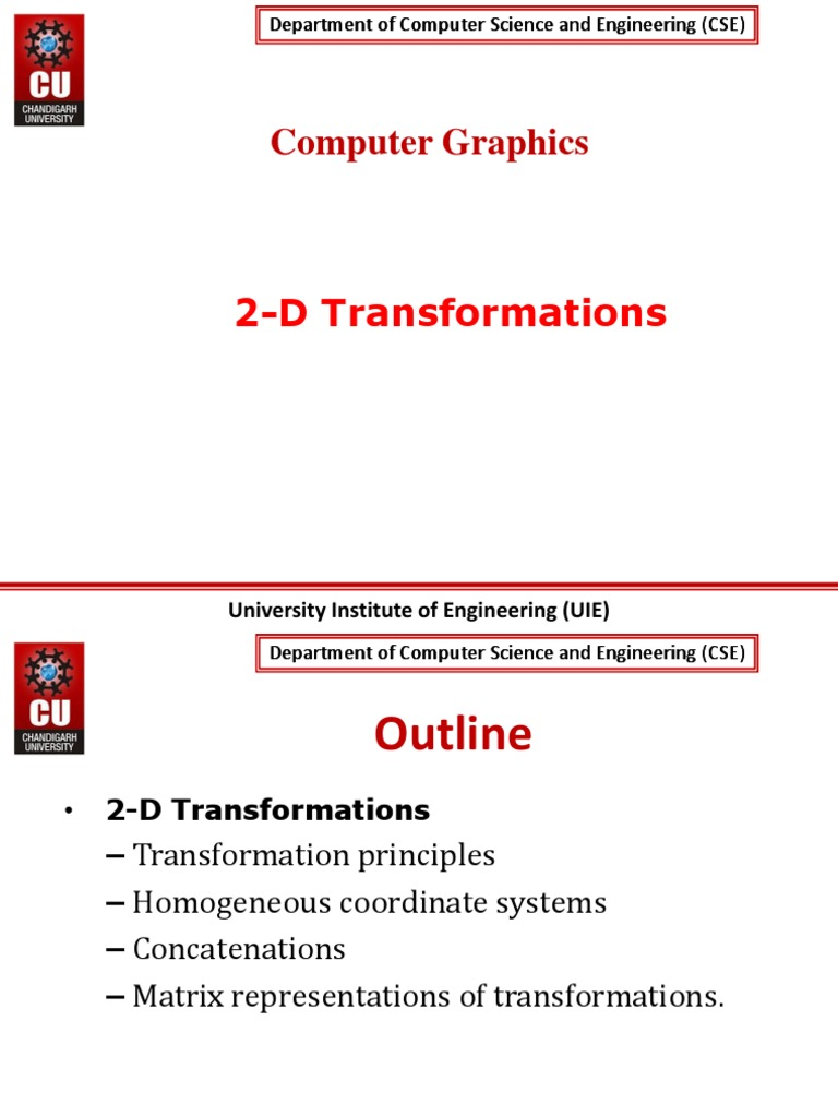 2D Transformatios | 2 D Computer Graphics | Cartesian