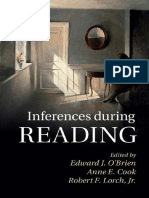 Edward J. O'Brien, Anne E. Cook, Robert F. Lorch Jr-Inferences During Reading-Cambridge University Press (2015)