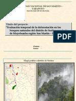 Evaluación temporal de la deforestación en los bosques naturales del distrito de Soritor provincia de Moyobamba región San Martín – Perú 2008