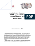 Applied PEA Field Guide and Framework Working Document 041516