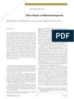 Anesthesia for in Utero Repair of Myelomeningocelem