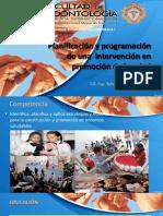 CLASE 14. Planificación y Programación de Una Intervención en Promoción de La Salud.