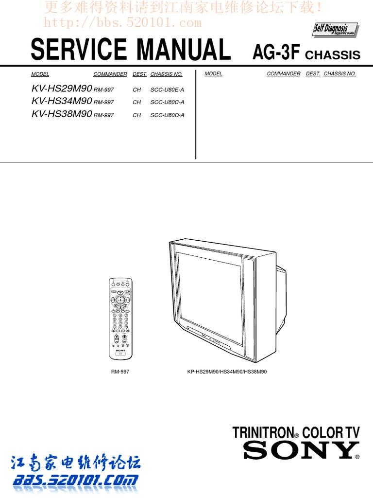 Triniton Sony - Pq12rf11 | Power Supply | Cathode Ray Tube on