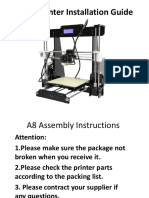 A8 3D Printer Installation Instructions-161230