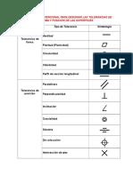 Simbologia Convencional Para Designar Las Tolerancias de Forma y Posición de Las Superficies1