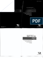 ASNT Tc 1a Ed 2011 Personnel Qualification and Certification in Nondestructive Testing